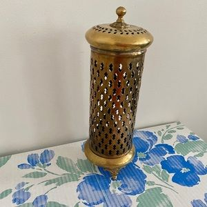 Vintage brass Moroccan style candle holder